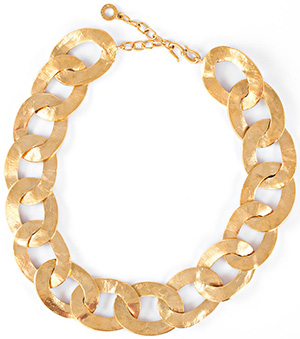Goossens Paris Hammered Metal Necklace: €610.