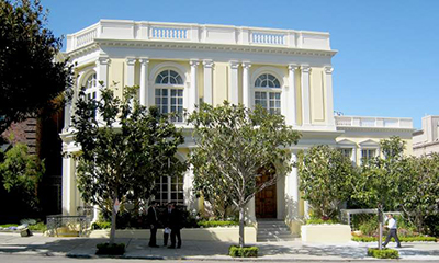 Ann & Gordon Getty's Mansion, 2870-2880 Broadway, Pacific Heights, San Francisco, CA 94115, U.S.A. designed by Willis Polk.