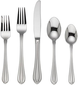Melon Bud Frosted 5-piece Flatware Place Setting by Gorham: US$49.95.
