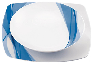 Fratelli Guzzini Set of 6-piece place settings Aqua plates: €147.