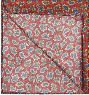Harrods of London Paisley Silk Handkerchief: £16.95.