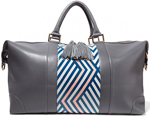 Eddie Harrop's 'The Voyager' bag is 'fashioned to the fun-seeking, jet-setters of the world.': £650.