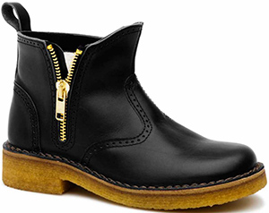 Swedish Hasbeens men's Zip It Martin black boot.