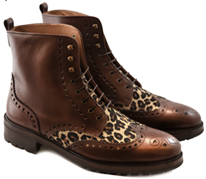Terry de Havilland men's Suits Boot Brown/Leopard: £150.