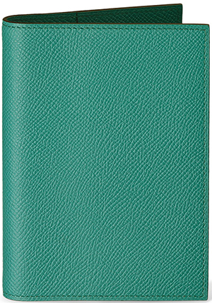 Hermès Grand Modèle Hermes peacock blue leather agenda cover: US$395.