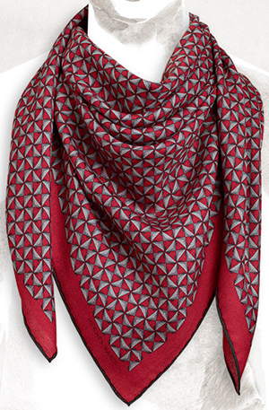 Hermès H Envol cashmere and silk scarf, 39 × 39-inches: US$720.