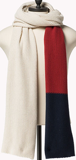 Tommy Hilfiger men's Colorblock Scarf: €74.90.