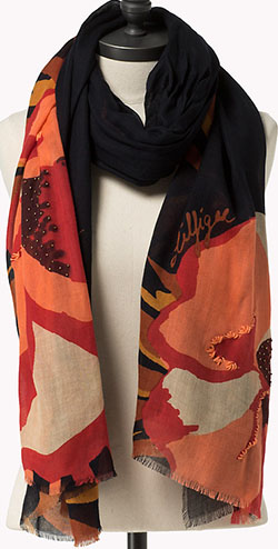 Tommy Hilfiger women's Wool Voile Colorblock Scarf: €99.90.