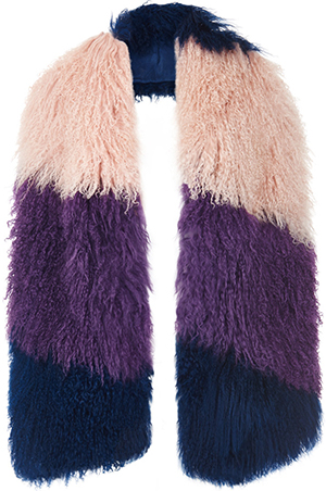House of Holland women's Mongolian Fur Scarf: £117.