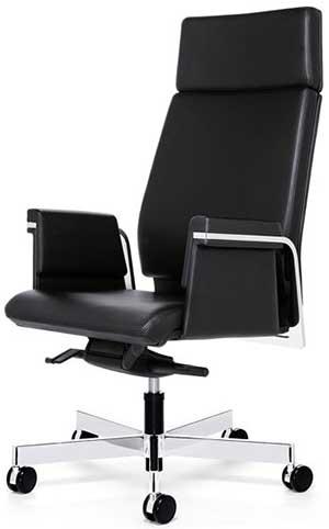 Interstuhl Axos 364A Management swivel armchair high backrest, armrests, 5 star base with castors.