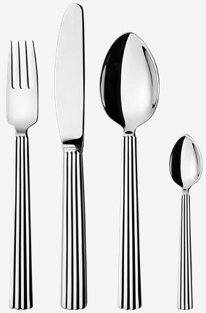Georg Jensen Bernadotte 16 pcs set: US$370.