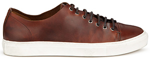 Jigsaw men's Raw Edge Leather trainers: £129.