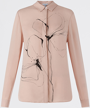 Jigsaw women's Linear Flower Silk shirt: £129.