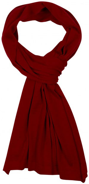 John Smedley Unisex Shawl Flight In Guards Red: £95.