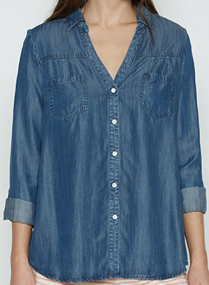 Joie Brady Chambray Top: US$168.