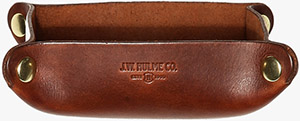 J.W. Hulme Co. American Heritage Leather Desk Valet Tray: US$95.