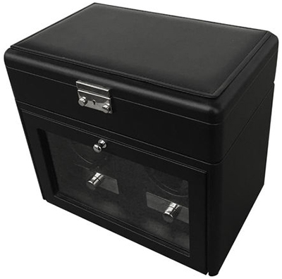 Kadloo Glider Two - Leather Softtouch Black watch box: €349.