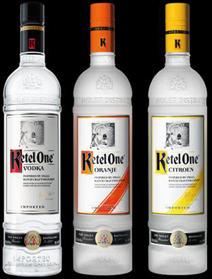 Ketel One vodka brands.