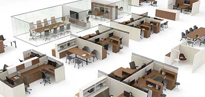 Knoll Dividends Horizon has the versatility to provide thoughtful primary workspaces for focus work and concentration.