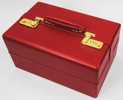 Tanner Krolle Red Leather Jewelry Case.