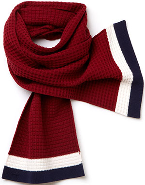 Lacoste women's scarf in tricolor cotton: US$59.99.