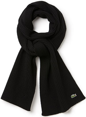 Lacoste men's Croc Wool scarf: US$31.99.