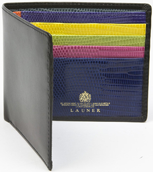 Launer Multi Lizard Credit Card Wallet: £465.