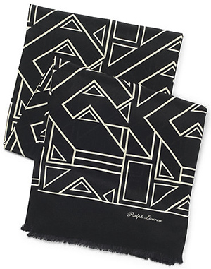 Ralph Lauren Men's Art Deco Silk Scarf: US$495.