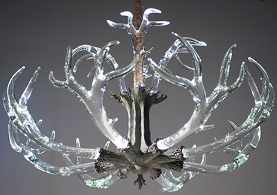 Lawson Glass The Crystal Antler Chandelier.