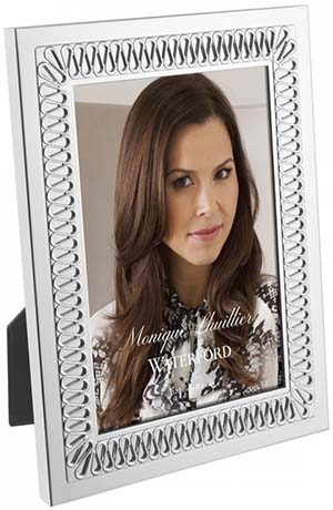 Monique Lhuillier Waterford Opulence Metal 5×7 Picture Frame: US$75.