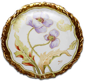 Limoges Cabinet Plate by Riquet.