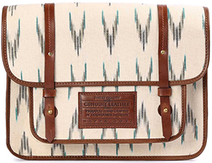 The Little Market Nappa Dori Large Ikat Satchel - Cream: US$210.