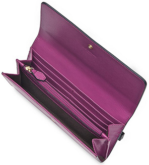 L.K.Bennett Sonia Purple Saffiano Leather Women's Wallet: £95.