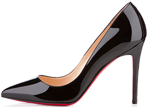 Christian Louboutin 'So Kate' 100 Black Leather Pump: US$675.