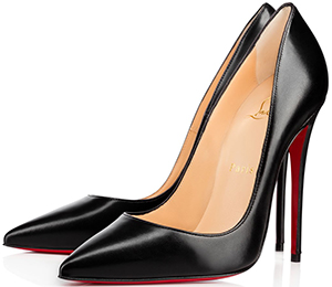 Christian Louboutin 'So Kate' 120 Black Leather Pump: US$675.