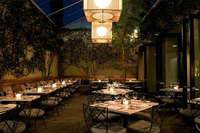 Restaurant Lucques, 8474 Melrose Ave, West Hollywood, CA 90069.