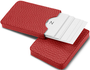 Lucrin sliding two-parts case for business cards: US$63.