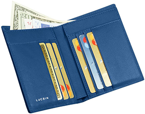 Lucrin luxury wallet: US$124.