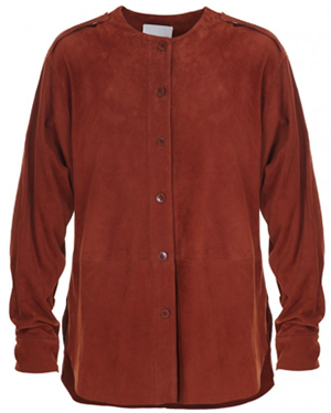 Tibi featherweight suede luxe women's shirt: US$795.