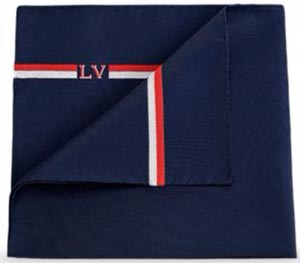 Louis Vuitton LV Ruban Pocket Square: US$150.