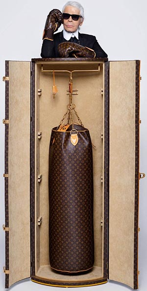 Karl Lagerfeld's Louis Vuitton Punching Trunk: US$175,000.