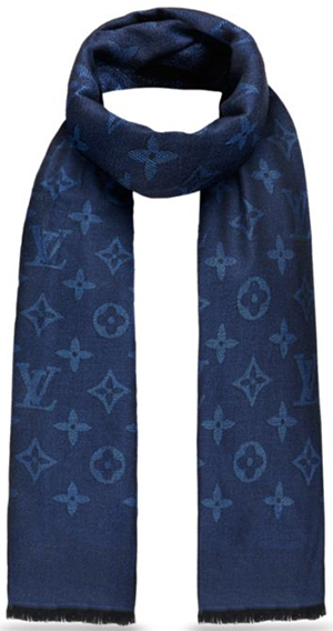 Louis Vuitton men's Monogram Stone Stole: US$650.