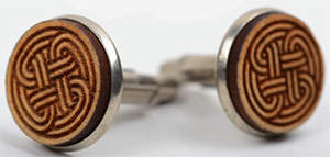 Made Handmade unique wooden cufflinks on metal base unique designer present for men: €16.52.