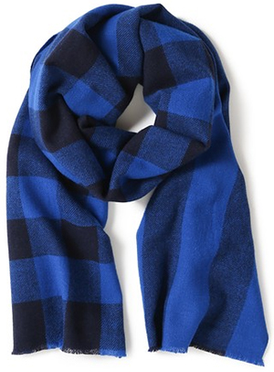 Marc by Marc Jacobs Boiled Wool Plaid Men's Scarf.