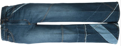 Marc by Marc Jacobs women's cropped panelled jeans.