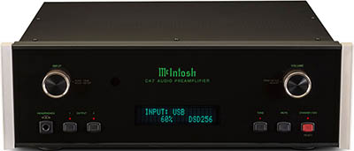 McIntosh C47 stereo preamplifier.