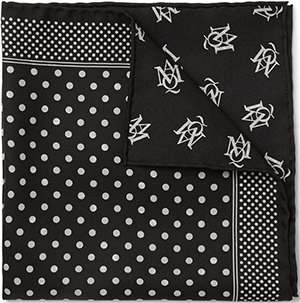 Alexander Mcqueen Polka-Dot Silk-Twill Pocket Square: U$145.