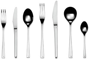 David Mellor Embassy sterling silver cutlery.