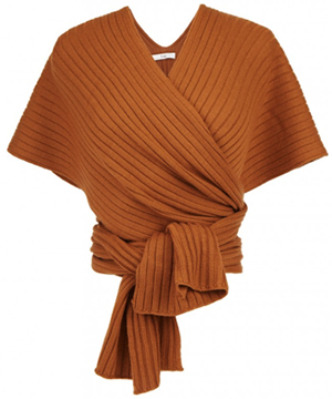 Tibi Merino wool shawl: US$350.