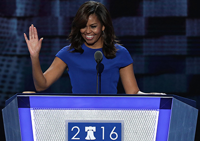 'I wake up every morning in a house that was built by slaves,' Michelle Obama.